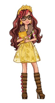 Rosabella Beauty - Daughter of Beauty & The Beast art in other words me in ever after high she loves animals and reads