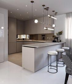 44 amazing modern kitchen design ideas you will love 10 Modern Kitchen Interiors, Luxury Kitchen Design, Kitchen Room Design, Home Room Design, Kitchen Cabinet Design, Luxury Kitchens, Home Decor Kitchen, Interior Design Kitchen, Black Kitchens
