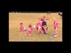 Mini Rugby League Tackle Practice (From Knees) - YouTube