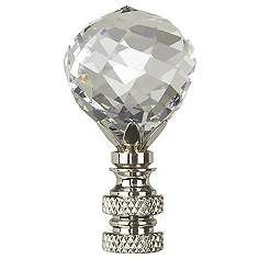 Swarovski Faceted Crystal Ball Lamp Shade Finial