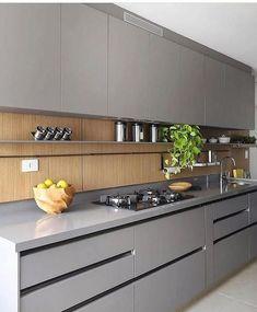 47 best simple kitchen design ideas for 2020 46 Simple Kitchen Design, Kitchen Room Design, Luxury Kitchen Design, Home Room Design, Kitchen Cabinet Design, Interior Design Kitchen, Kitchen Decor, Kitchen Storage, Modern Kitchen Interiors