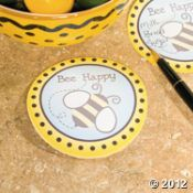 """Bee Happy"" Sticky Notes - favor idea"