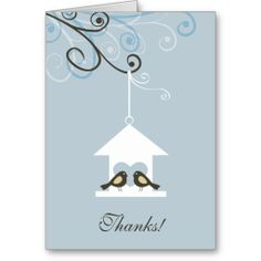 Bird House Thank You Greeting Card