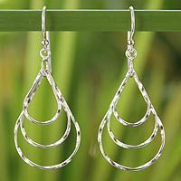 Discover unique handcrafted treasures. Every purchase will help UNICEF save and improve children's lives and help support talented artisans. Sterling silver dangle earrings, 'Raindrops'