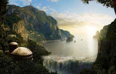 Fantasy Island Abstract Wallpaper
