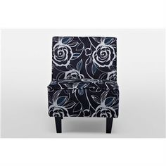 Floral Pattern Chair in Black