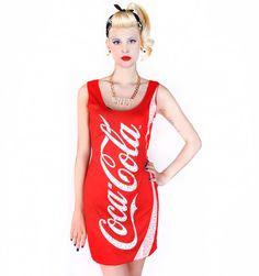 Coca Cola Glitzy Tank Dress http://patriciafield.com/collections/halloween/products/cc-glitzy-tank-dress  Foxy Fur Vest http://patriciafield.com/products/foxy-fur-vest  Diet Coke Can Bag http://patriciafield.com/diet-coke-can-bag