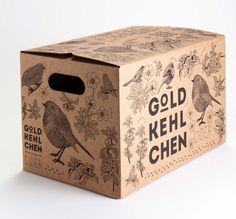 I love the illustrations for Goldkehlchen apple cider packaging. Cool Packaging, Beverage Packaging, Bottle Packaging, Brand Packaging, Design Packaging, Design Food, Web Design, Label Design, Package Design