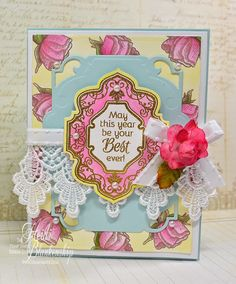 Embellished Dreams: The Stamp Simply Ribbon Store - Birthday Floral Card