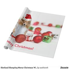 #gift this #nice #Sheltie wishing #MerryChristmas #wrapping #paper  to your #friends #HolidaySeason price lower than on #amazon and #ebay #bestbuy #deals #newyears #lowestpriceShetland Sheepdog Merry Christmas Wrapping Paper