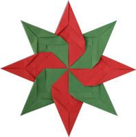 Christmas Oragami Petal Star