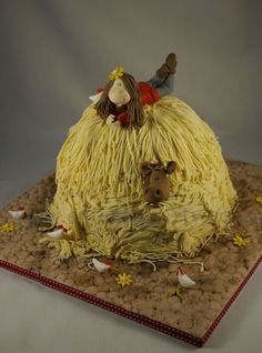 haystack cowgirl cake farm barnyard...I want this for my birthday...but it needs to have a horse!!  ;)