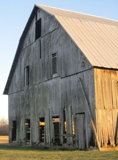 We have a big old barn, but the doors are missing.........................
