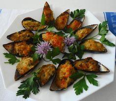 Cozze gratinate al forno con pomodoro