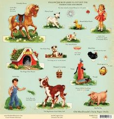 Farm paper doll cut outs
