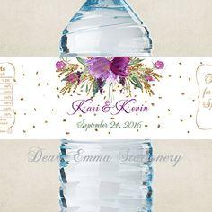 Personalizado etiquetas de botella de agua por BlackRabbitLabels