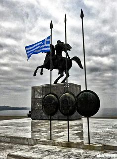 Thessaloniki statue of Alexander the Great Macedonia Greece, Athens Greece, Greek History, Roman History, Countries Europe, Cradle Of Civilization, Greek Culture, Paradise On Earth, Greek Art
