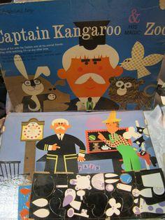 Captain Kangaroo Colorforms Toy TV Show | eBay
