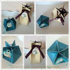 Sternentüte mit Stanz- und Falzbrett für Geschenktüten