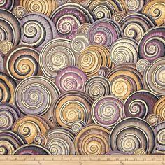 Kaffe Fassett Spiral Shells Brown Fabric