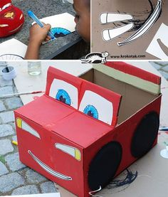 DIY Cardboard Box Car