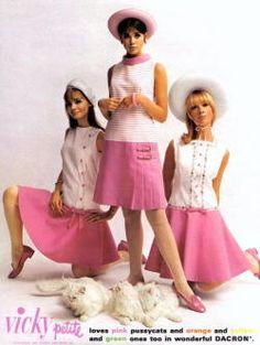 "vintagefashionandbeauty: """"Colleen Corby, Joan Paulson, and Cay Sanderson for Vicky Vaughn fashions, c. 1966 (x) "" """