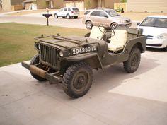 1951 CJ-3A (world war two replica) willys jeep
