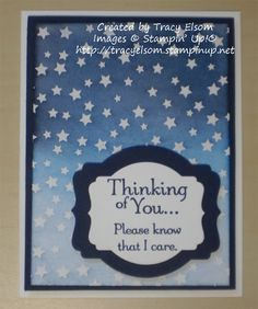 Card designed by Tracy Elsom using Thoughts and Prayers stamp set and the new Irresistably Yours Specialty DSP from the Stampin' Up! 2015 Sale-a-bration Brochure. http://tracyelsom.stampinup.net