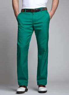 Bonobos Men's Clothes - Emerald, Pantone Color of the Year 2013 - Golf style Mens Golf Fashion, Mens Golf Outfit, Golf Attire, Perfect Golf, Golf Wear, Golf Pants, Ladies Golf, Golf Style, Style Men
