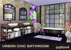 Urban Chic Bathroom. Sims 4 Custom Content. - pqSim4