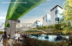 North Riverfront Open Space and Redevelopment Plan | Forum Studio #landscape #design #competition