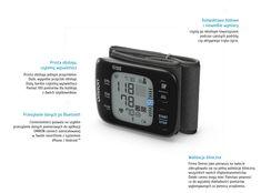 Nadgarstkowy ciśnieniomierz OMRON Intelli IT dla osób aktywnych It, Apple Watch, Smart Watch, Bluetooth, Smartwatch
