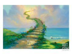 Stairway to Heaven Premium Giclee Print by Jim Warren at Art.com