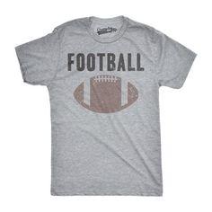 Mens Vintage Football Text Sports Distressed Football Laces Sporty T shirt (Grey) -3XL, Men's, Size: XXXL