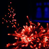 red 100 led christmas lights supabrights max intensity leds for use indoors or outdoors complete with high intensity non replaceable led lights - Non Led Christmas Lights