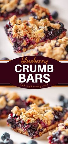 Give this summer dessert recipe a try! These fruit bars are full of juicy blueberries. With a super crunchy crumb topping of toasted oats, dried blueberries, and sunflower seeds, they make an easy dessert to impress! Blueberry Recipes, Fruit Recipes, Baking Recipes, Bar Recipes, Cookie Recipes, Fresh Fruit Desserts, Summer Dessert Recipes, Desserts To Make, Delicious Fruit