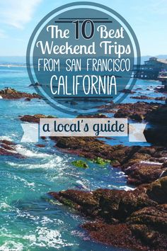 A local's guide to the 10 best weekend trips from the San Francisco Bay Area! Monterey, Morro Bay, Yosemite, Santa Cruz, Lake Tahoe, Healdsburg, Mendocino, Big Sur, and more Northern and Central California travel.