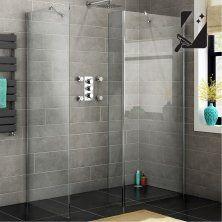 900x800mm - 8mm - Premium EasyClean Wetroom Panel, Return & Side Panel