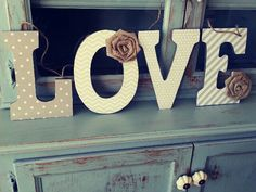Wood letters for the home