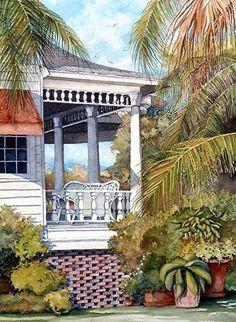 Veranda by Gene Rizzo Giclee Prints ~ 11x15 12x16 15x22 16x24 22x30 24x32 32x44 36x48 x x