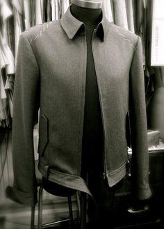 DAVIDE TAUB: Bespoke Leather Bomber Jacket, Design & Toile, 2013