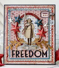 Freedom: Created for the Simon Says Stamp Monday Challenge Blog ~ Theme: Red, White & Blue