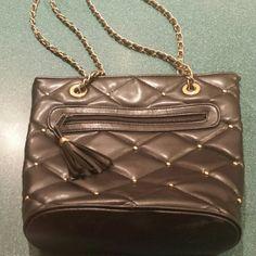 Black/gold studded handbag Black/gold studs handbag used but in good condition Bags Shoulder Bags