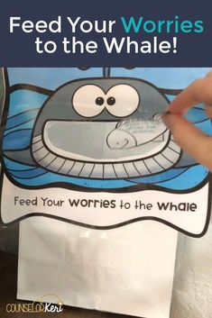 Worry activity for school counseling: read the worry story with your students! They will learn about what worry is, 3 worry management strategies, and practice sharing their worries with the worry whale. Students write their worries on the fish and feed them to the worry whale. Great worry tool for the school counseling office or the classroom calm down corner for manning worry.
