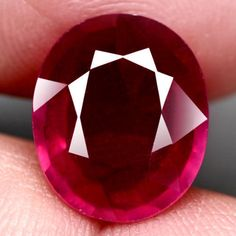 7.92CT.MARVELOUS! OVAL FACET PINKISH RED NATURAL RUBY MOZAMBIQUE #GEMNATURAL