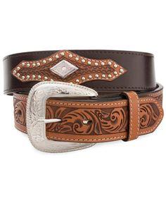 Tooled Trim Western Belt Buckle Boots d4e12cd6f045