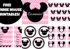 Free Full Set of Pink Minnie Mouse Party Printables