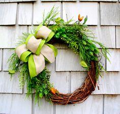 Burlap and Succulent Wreath for the Door by TisTheSeasonDesign, $55.00