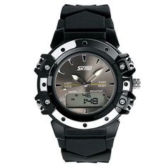 26e9607736aa Skmei Men Sports Watches Girls Women Analog Digital Quartz Couples  Wristwatches Boys Men Water Resistant Dual Time Zone