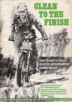 Sammy Miller famous trial rider Motorcycle Posters, Motorcycle Art, Bike Art, Trial Bike, Modern Gentleman, Trials, Motocross, Vintage, Honda